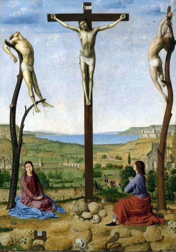 钉在十字架上   Antonello da Messina