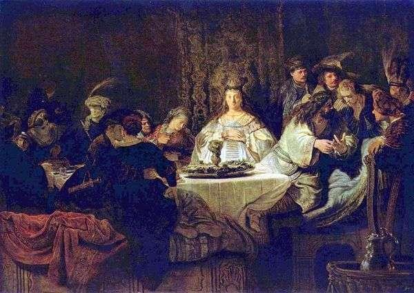 Samson在婚礼桌上拼图   Rembrandt Harmens Van Rhine