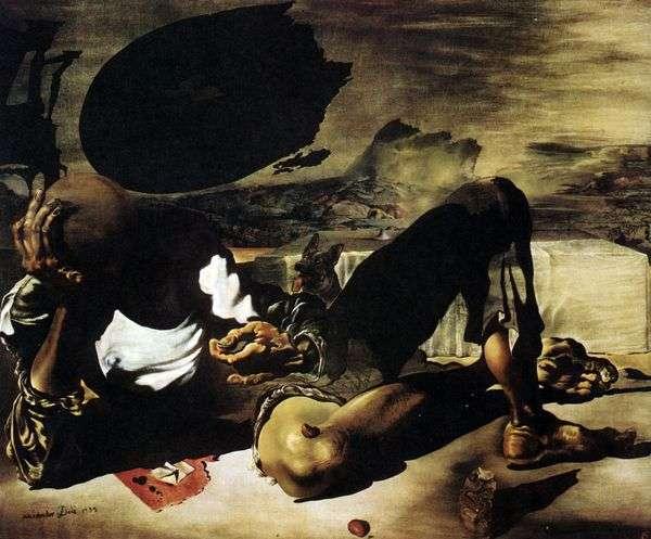 月亮和瑕疵太阳照亮的哲学家   萨尔瓦多 达利