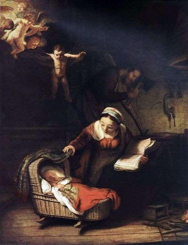 神圣家族和天使   伦勃朗哈门斯范莱茵