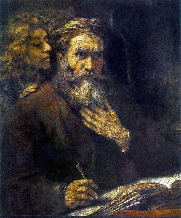 圣马太和天使   伦勃朗哈门斯范莱茵