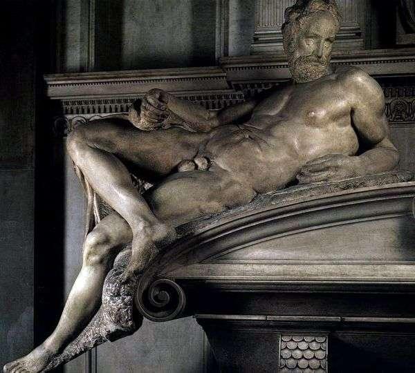 晚上(雕塑)   米开朗基罗Buonarroti