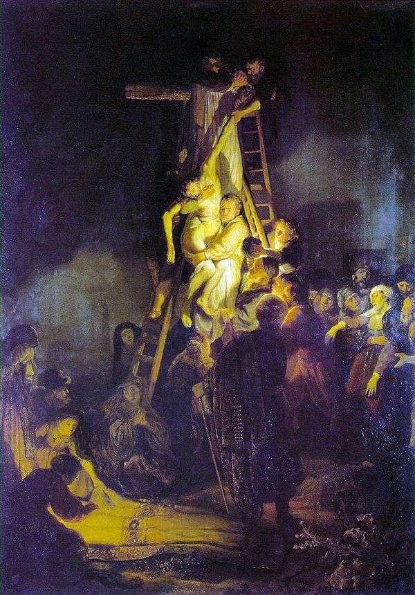 十字架的下降   伦勃朗哈门斯范莱茵