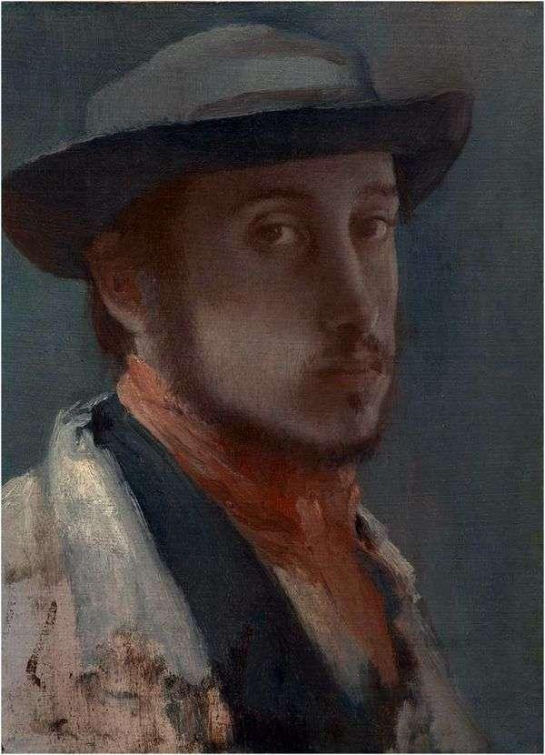 戴着软帽的自画像   埃德加德加