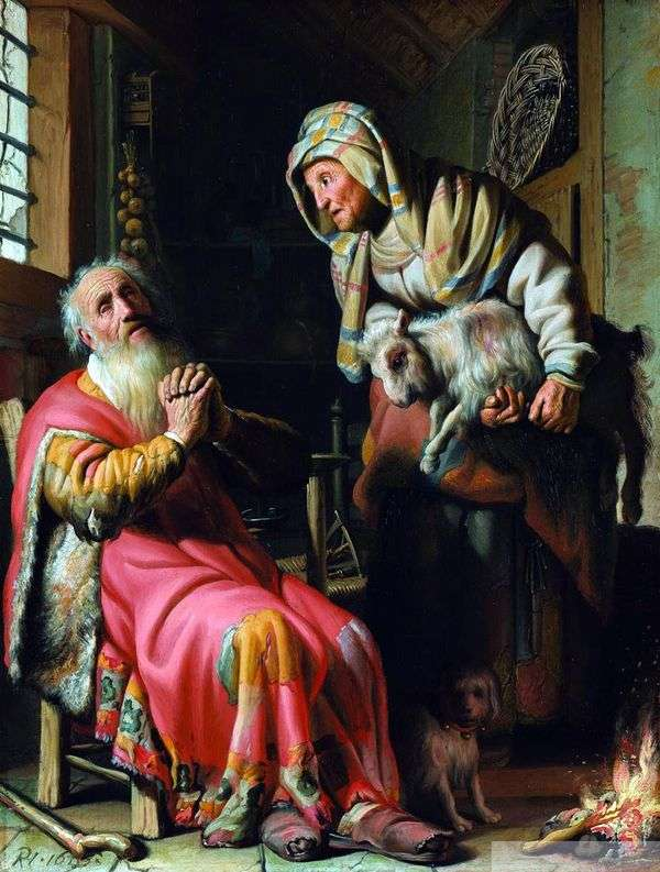 托维特怀疑他的妻子偷窃   伦勃朗哈门斯范莱茵