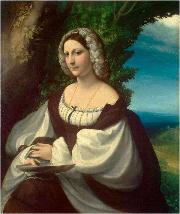 一个女人的肖像   Correggio(Antonio Allegri)