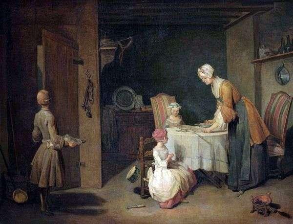 晚餐前祷告   Jean Baptiste Simeon Chardin