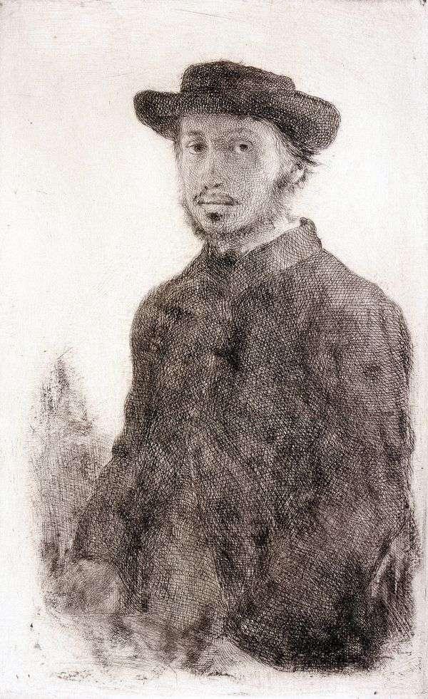 自画像。雕刻   埃德加德加