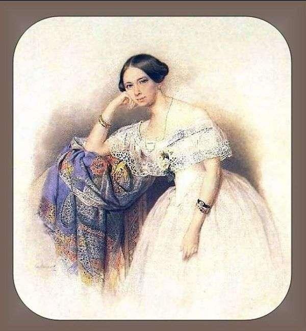A. S. Glinka Mavrina的肖像   彼得索科洛夫