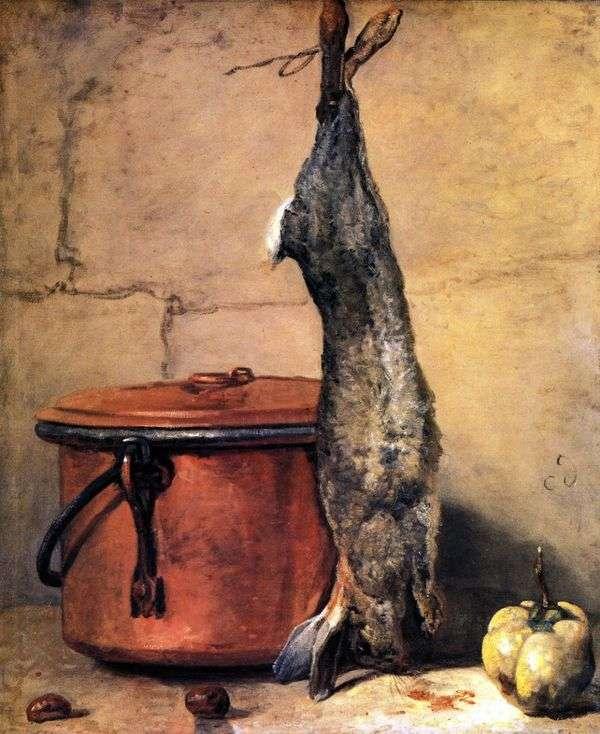 静物与野兔   让 巴蒂斯特西蒙 夏尔丹