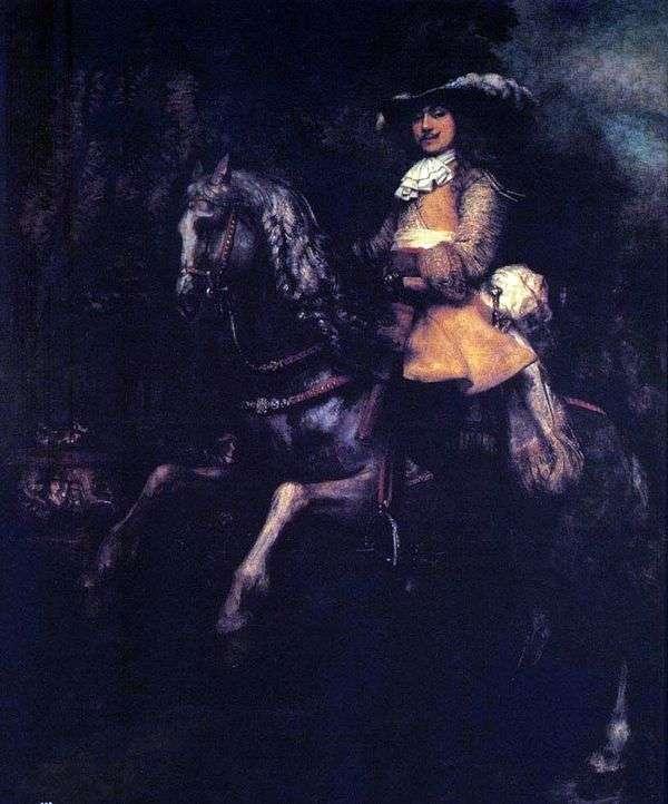 弗雷德里克瑞尔在马背上   伦勃朗哈门斯范莱茵