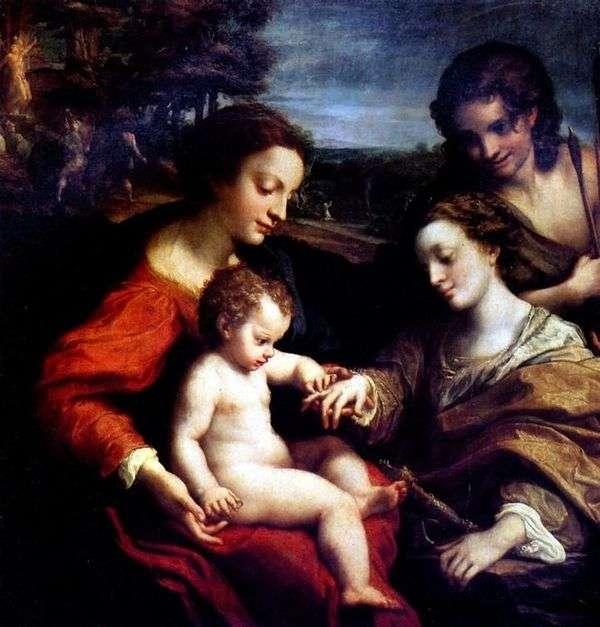 神圣的圣凯瑟琳订婚   Correggio(Antonio Allegri)