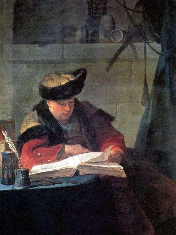 艺术家Joseph Aved的肖像   Jean Baptiste Simeon Chardin
