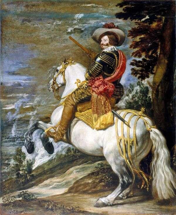 奥利瓦雷斯伯爵公爵的马术肖像   Diego Velasquez