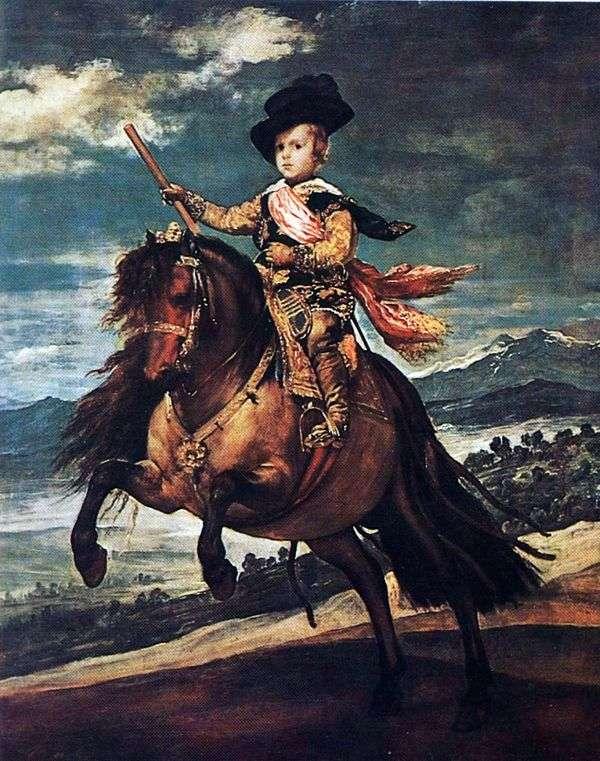 Infanta Balthazar卡洛斯   Diego Velasquez骑马画象