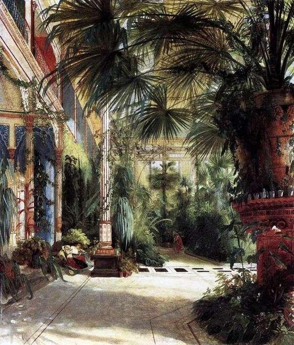 Friedrich Wilhelm的棕榈院   Carl Edouard Ferdinand Blechen