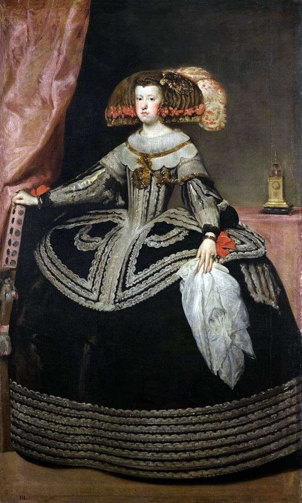奥地利女王玛丽亚安娜   Diego Velasquez