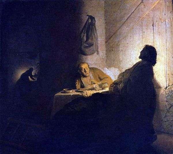 基督和以马us斯的门徒   伦勃朗哈门斯范莱茵