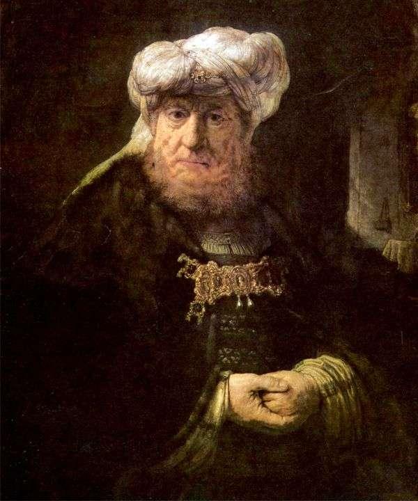 乌西雅国王对麻风病感到震惊   伦勃朗哈门斯范莱茵