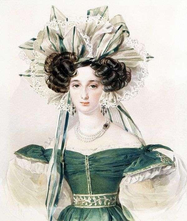 伊丽莎白Ksaverievny沃龙佐娃   彼得索科洛夫的肖像