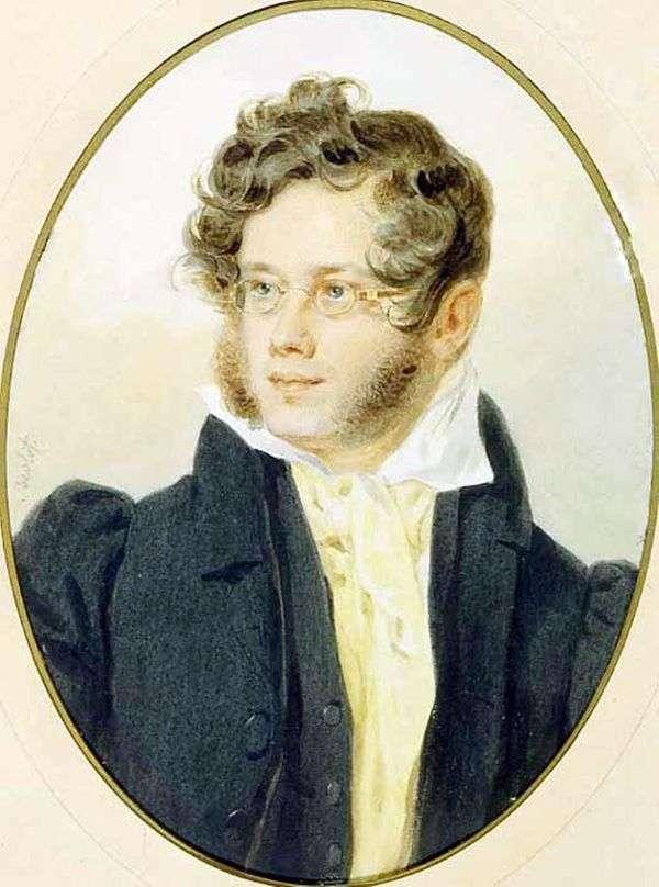 P. A. Vyazemsky王子的肖像   彼得索科洛夫
