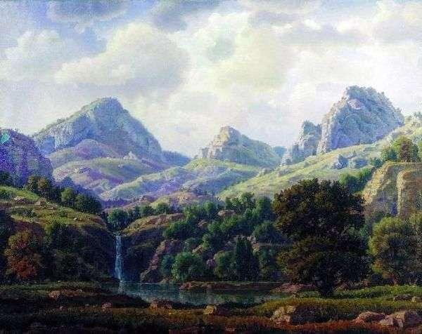 山地景观   康斯坦丁Bogaevsky