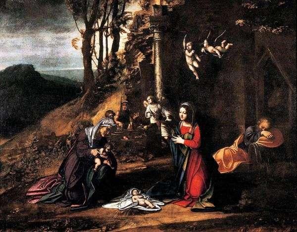 圣诞节与圣 伊丽莎白和小施洗约翰   科雷焦(Antonio Allegri)