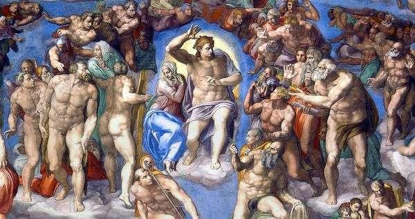 壁画上的基督形象最后的审判   米开朗基罗Buonarroti