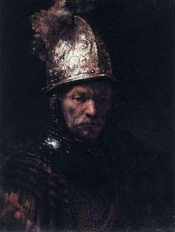 金盔中的男人   伦勃朗哈门斯范莱茵