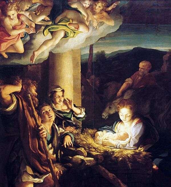 圣诞节(夜)   科雷吉奥(Antonio Allegri)