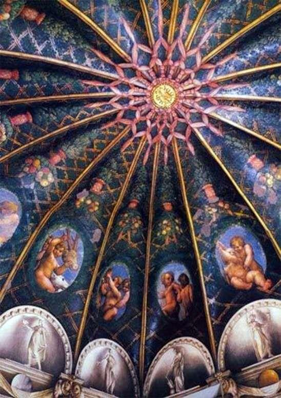 帕尔马圣保罗修道院的壁画   Correggio(Antonio Allegri)