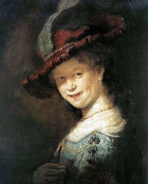 SaskiavanEilebürch的肖像   伦勃朗Harmens Van Rhine
