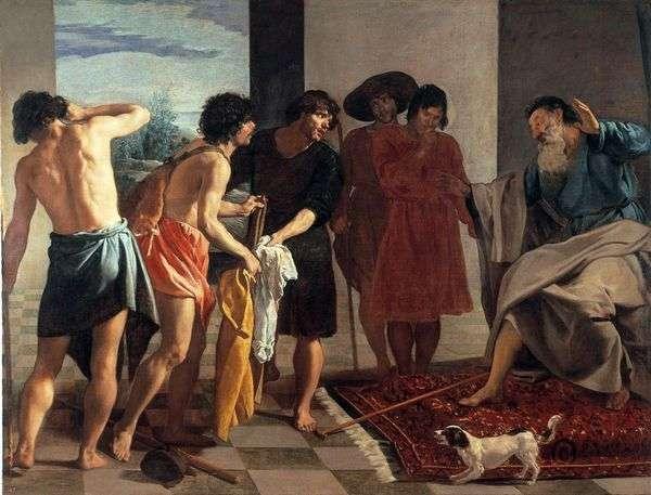 约瑟夫的血淋淋的斗篷带给了雅各布   迭戈维拉斯克斯