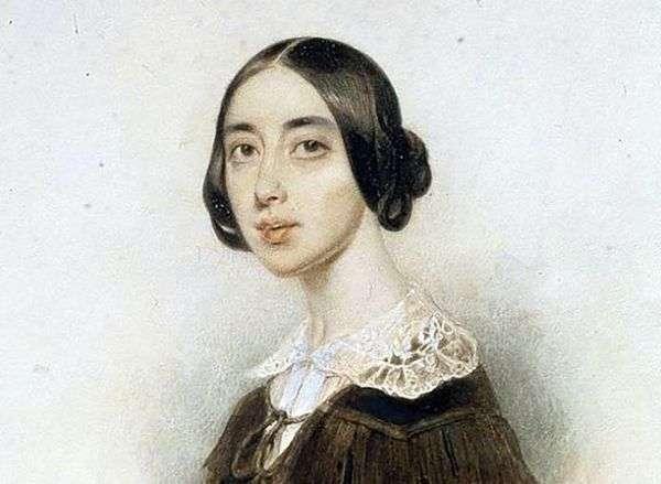歌手Pauline Viardot   Peter Sokolov的肖像