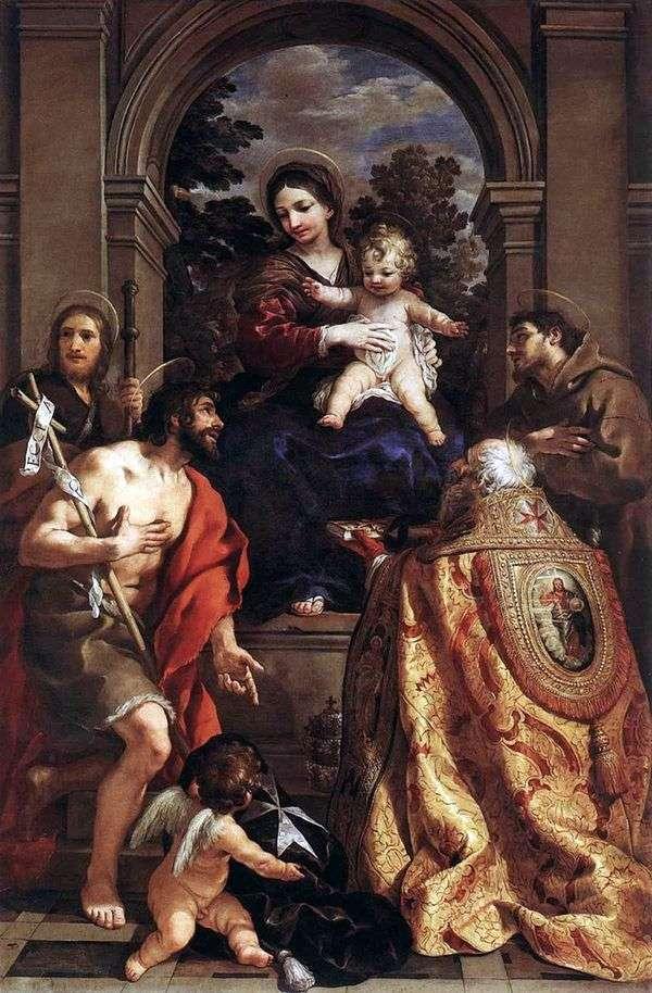 麦当娜与圣徒   彼得罗达科尔托纳