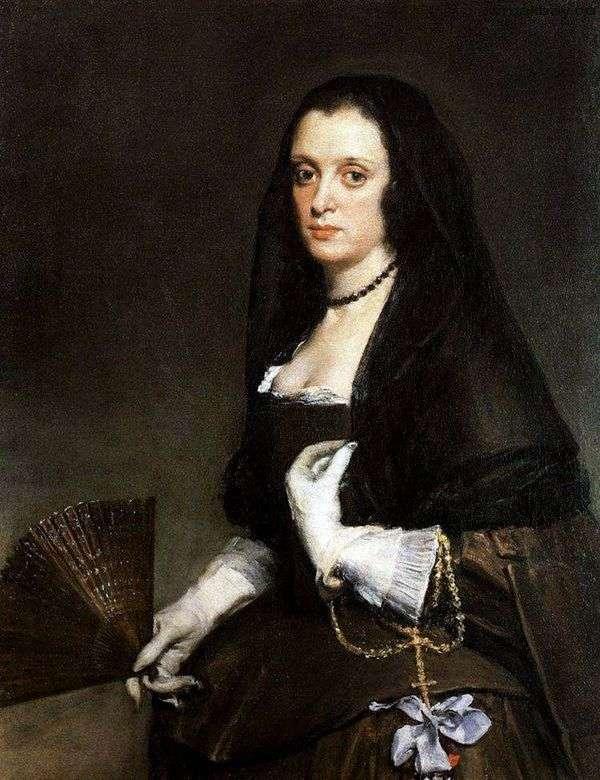 一位夫人的画象有爱好者的   Diego Velasquez