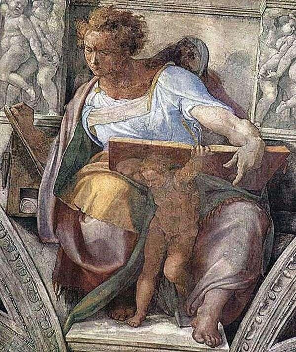 先知丹尼尔(壁画)   米开朗基罗Buonarroti Buonarroti
