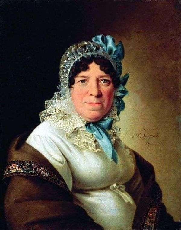 Yu. P. Sokolova   Peter Sokolov的肖像