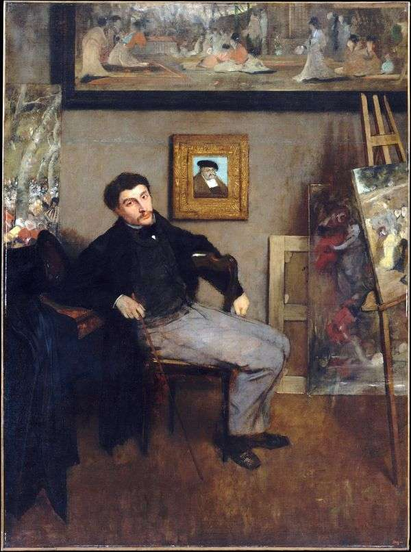 詹姆斯天梭的肖像   埃德加德加