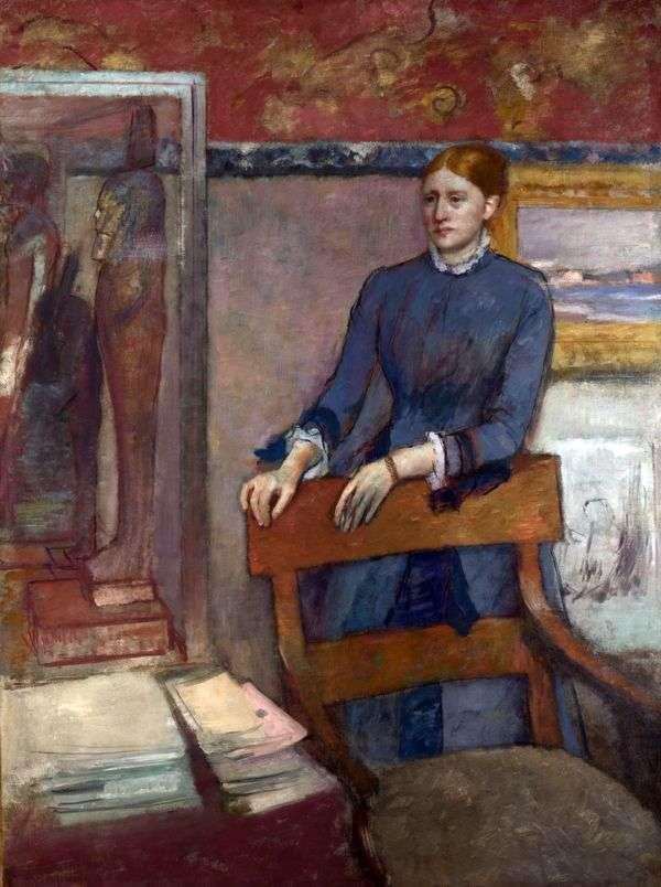 Mademoiselle Helene Roire的肖像   埃德加德加