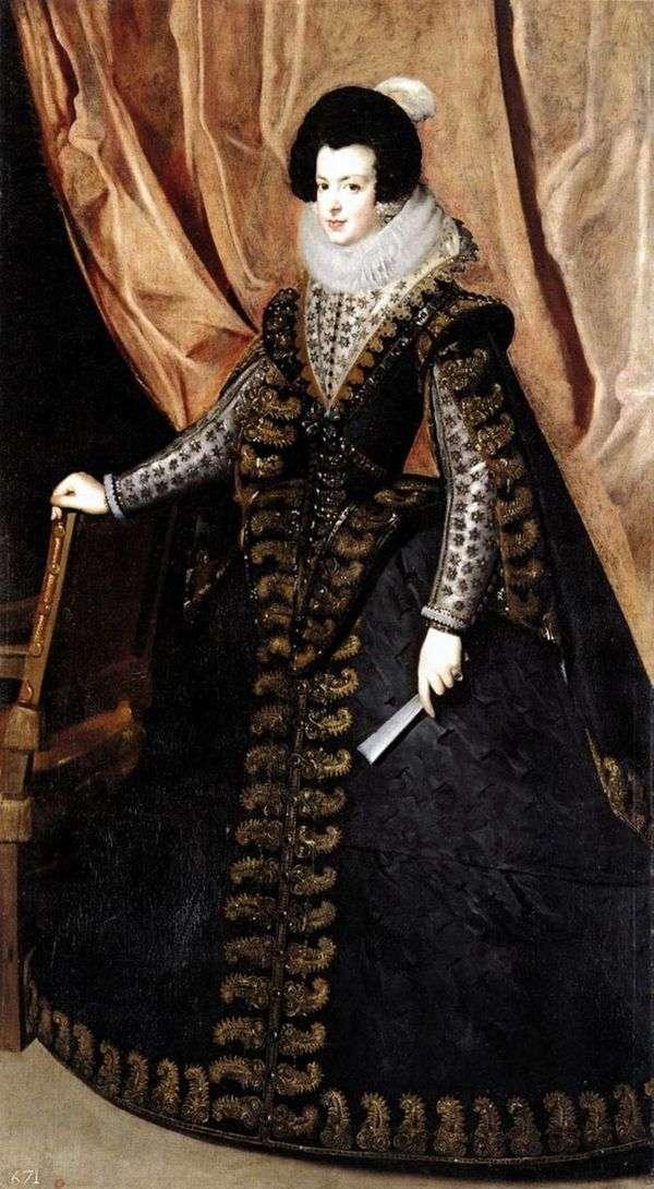 波旁女王伊莎贝拉画象   Diego Velasquez
