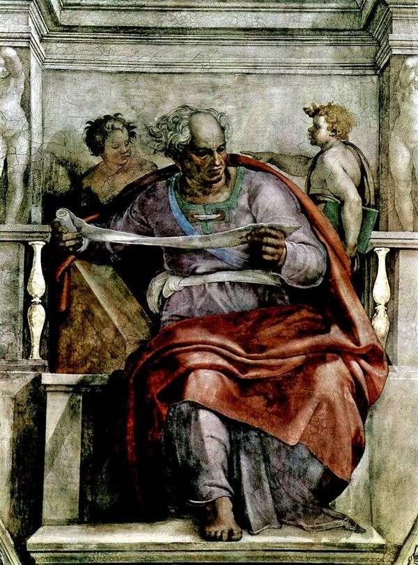 先知乔尔(Fresco)   米开朗基罗Buonarroti
