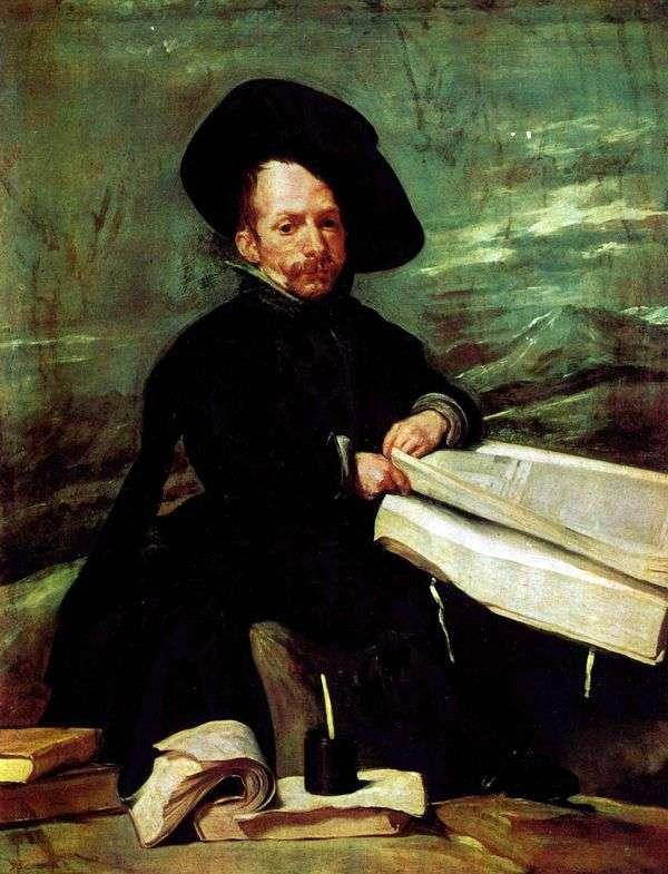 宫廷小丑El Primo的肖像   Diego Velasquez