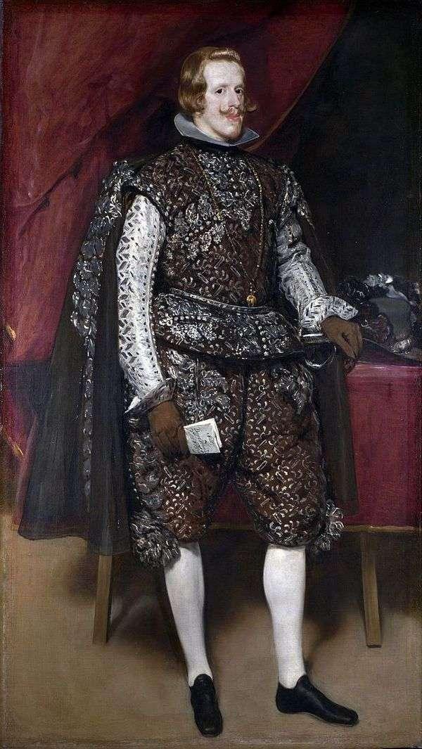 菲利普四世画象在布朗和银色服装   Diego Velasquez