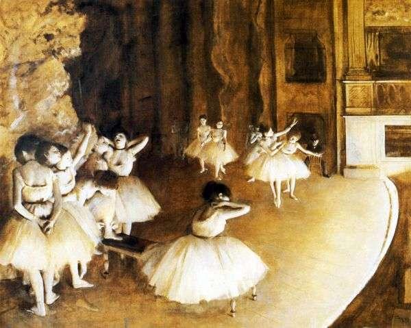 舞台上的芭蕾排练   埃德加德加