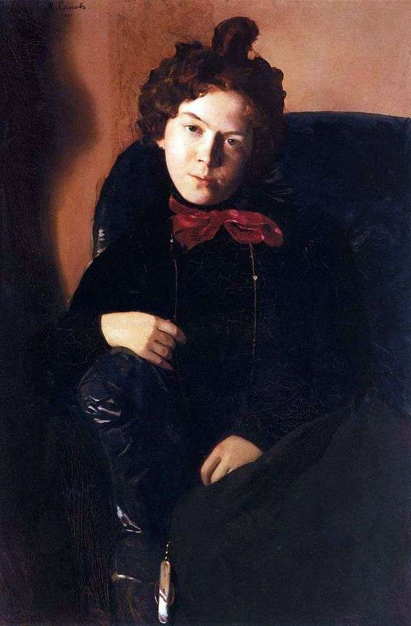 A. P. Ostroumova   Konstantin Somov的肖像