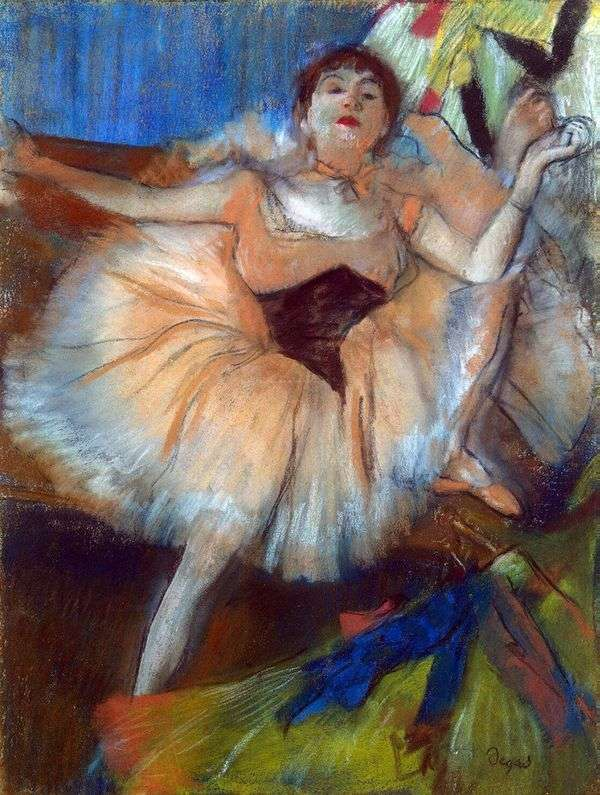 坐着的舞者   埃德加德加