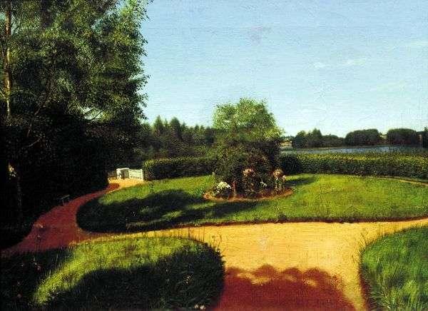 N. P. Milyukov群岛庄园的前花园的视图   格雷戈里索罗卡