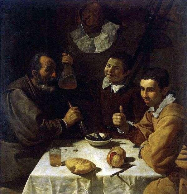 三名男子在桌上   Diego Velasquez