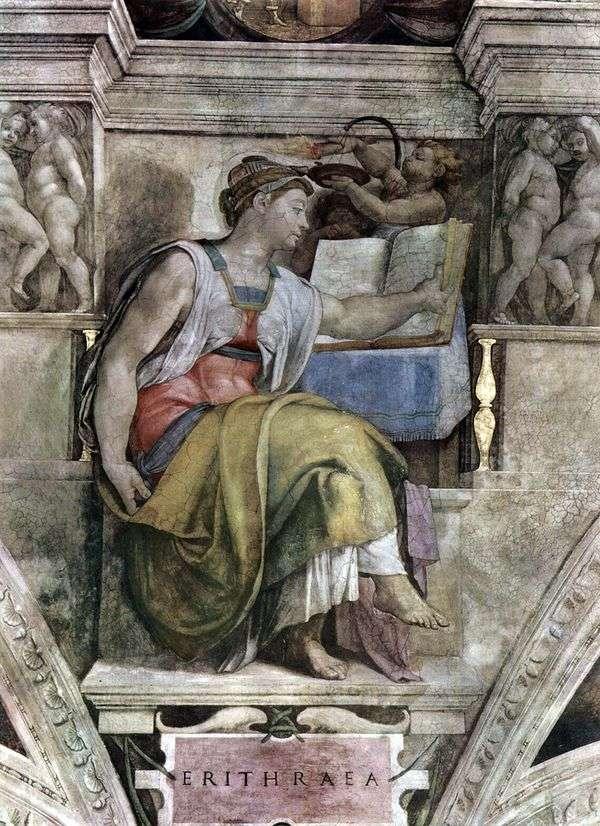 厄立特里亚Sibyl(壁画)   米开朗基罗Buonarroti
